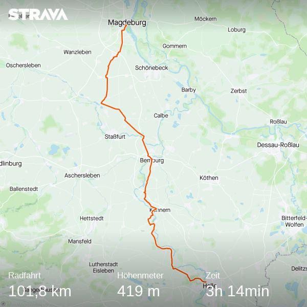 Cycling Tour Halle - Magedeburg Strava
