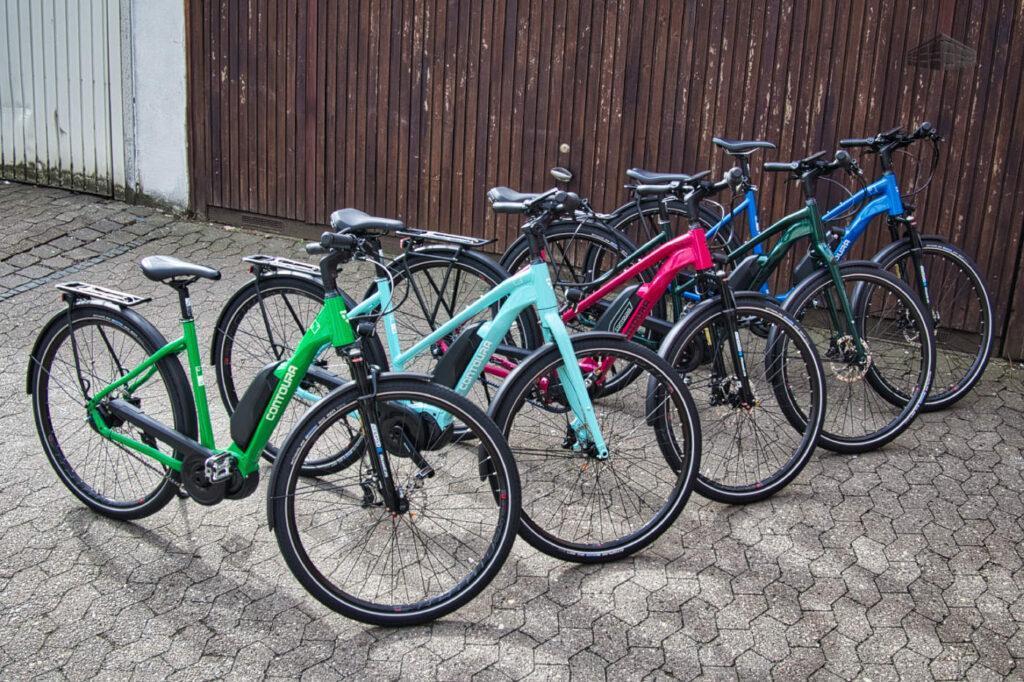 Contoura Li-2 & Li-4 E-Bikes Farben