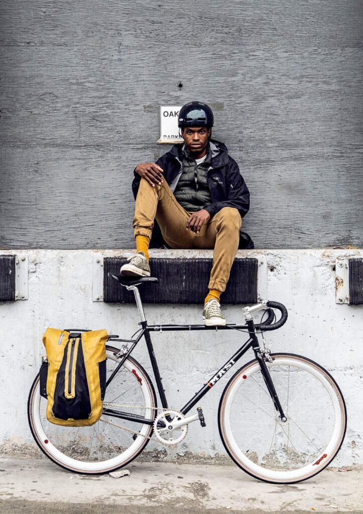 Ortlieb Vario Rucksack am Fahrrad